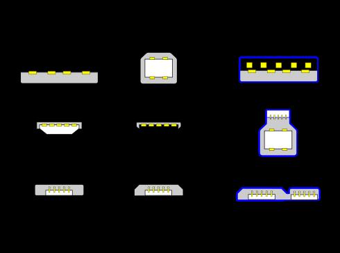 USB-разъемы, типы USB-A и USB-B
